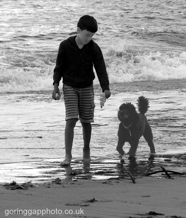 BOY & HIS DOG by Ros French