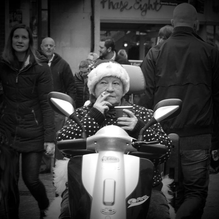 SCOOTER LADY by Peter Brass