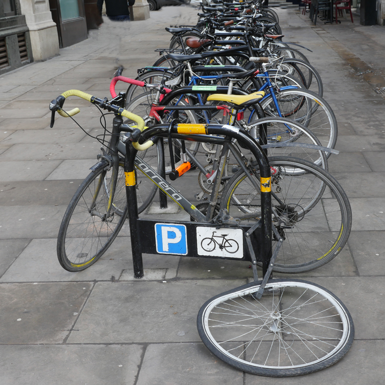 BEAK STREET BIKE STAND by Peter Brass