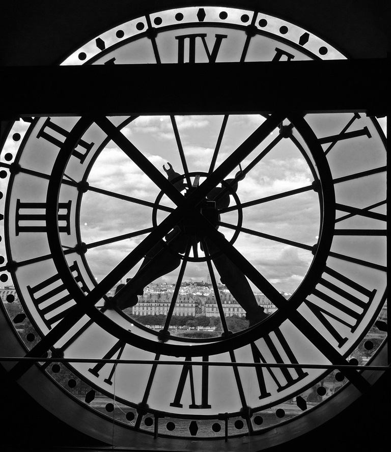CLOCK WITH A VIEW OVER PARIS by Dick Lysons