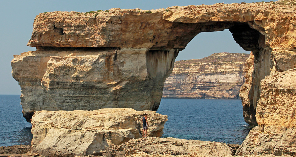 AZURE WINDOW, GOZO by Ruth Lysons