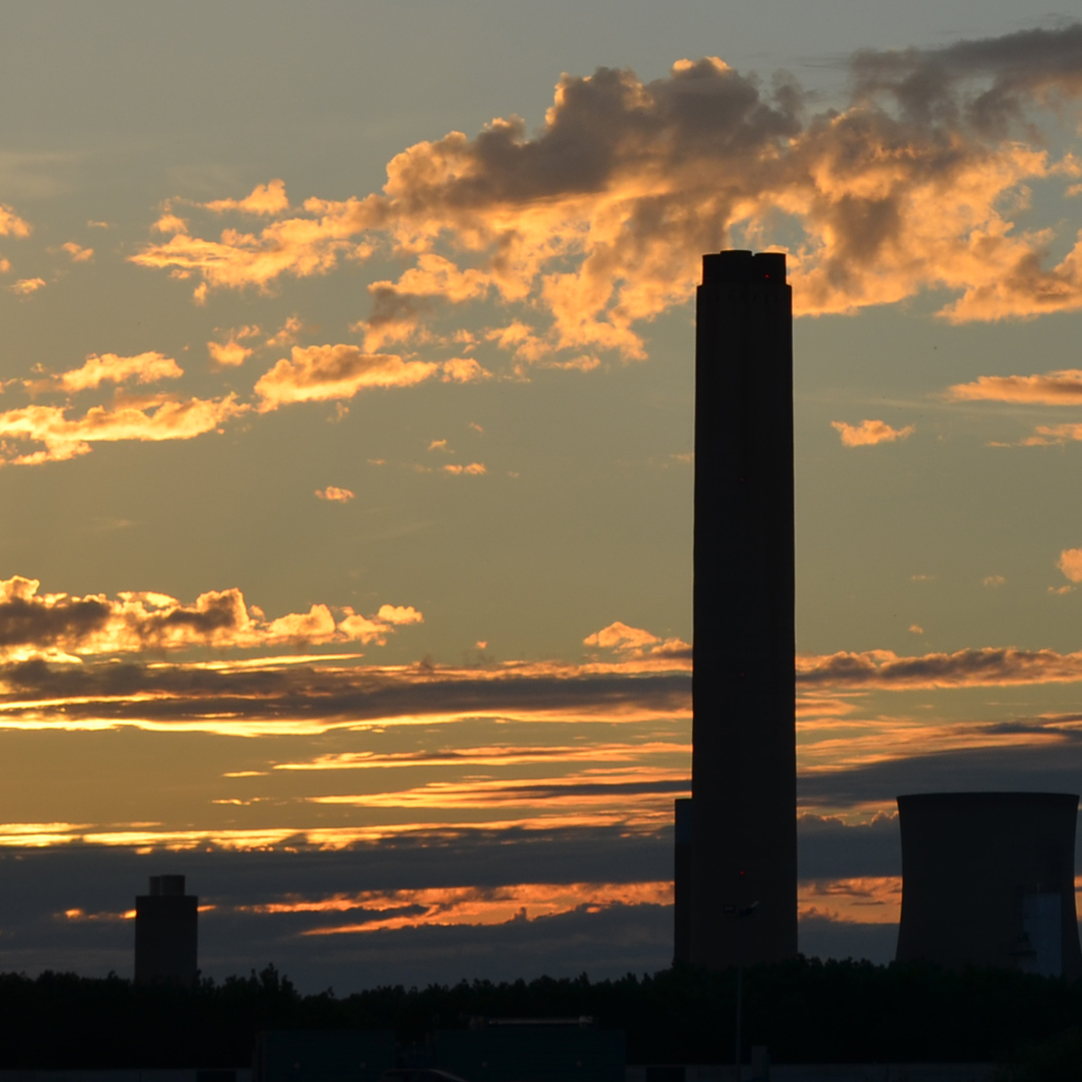 SUNSET IN DIDCOT by Gill Cranshaw