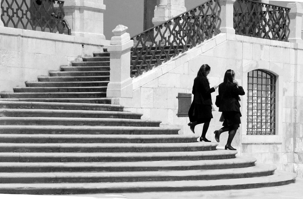 DOWN THE STEPS by Ros French