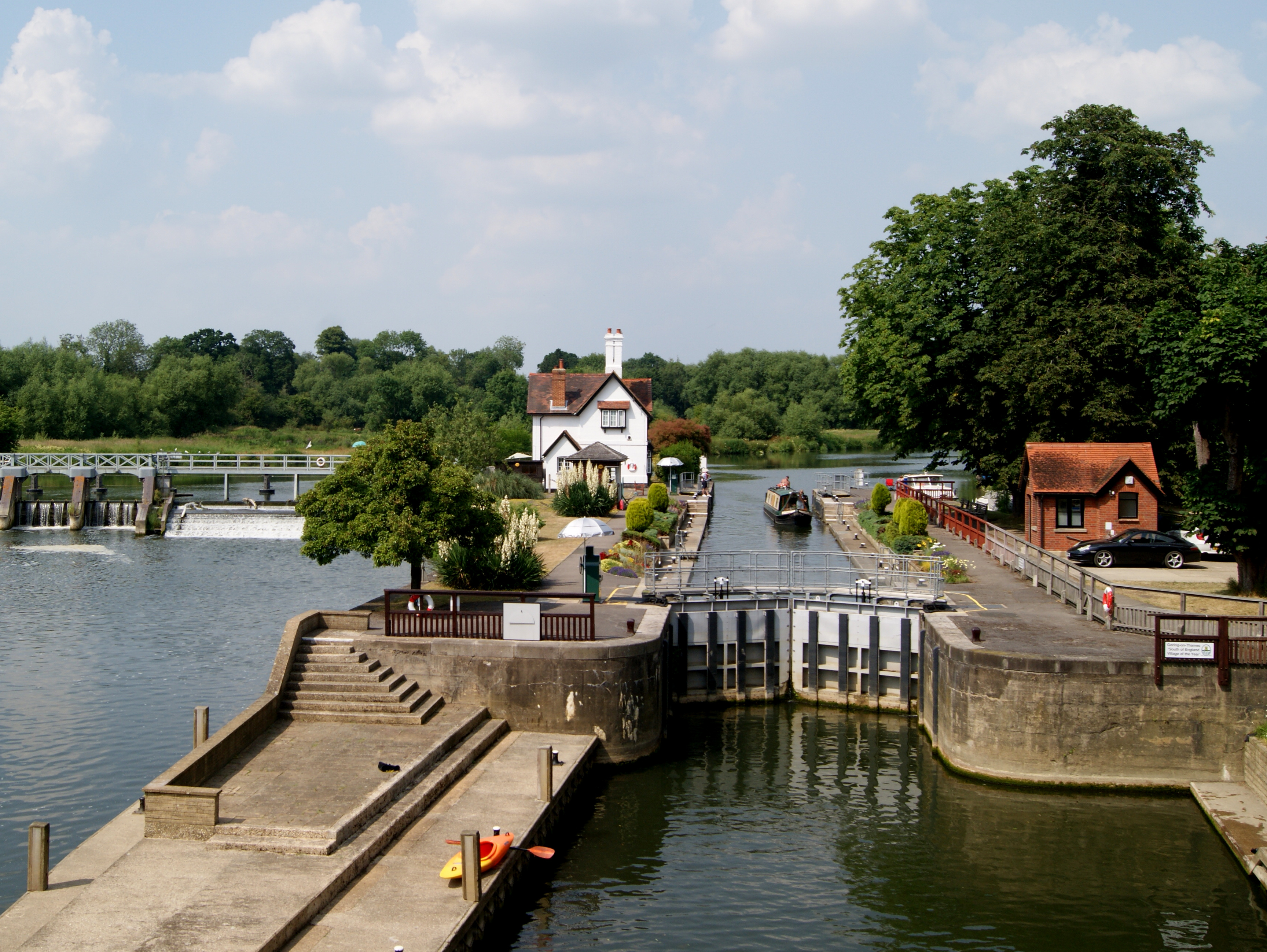 GORING LOCK ON A NICE SUNNY SUMMERS DAY by James Ashworth