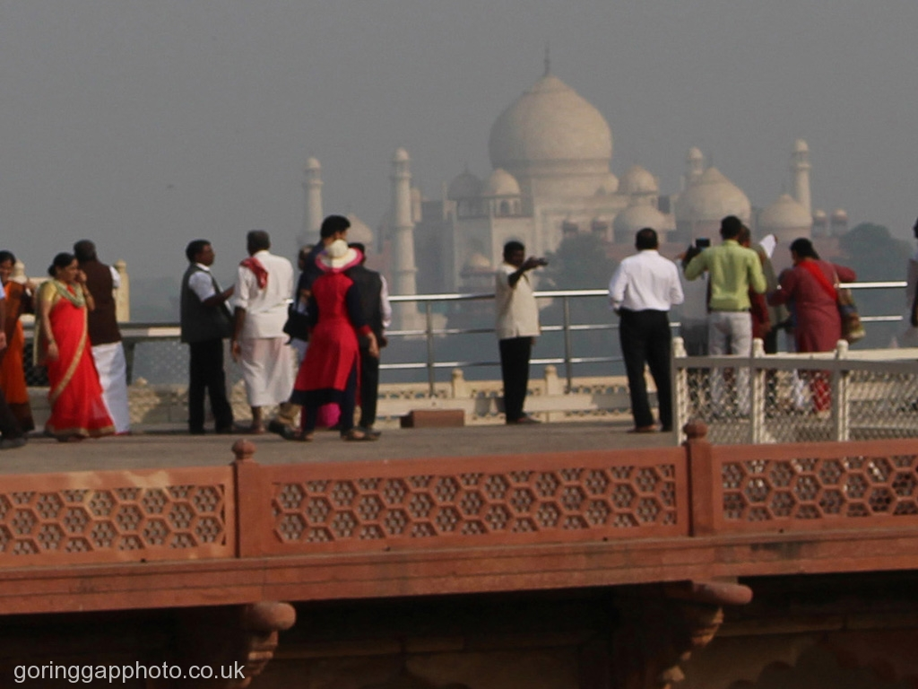 LOOKING AT THE TAJ MAHAL by June Cryer